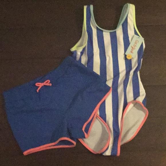 fa79ce30c802 Cat & Jack Swim   Nwt Girls Suit Shorts Size 1012   Poshmark
